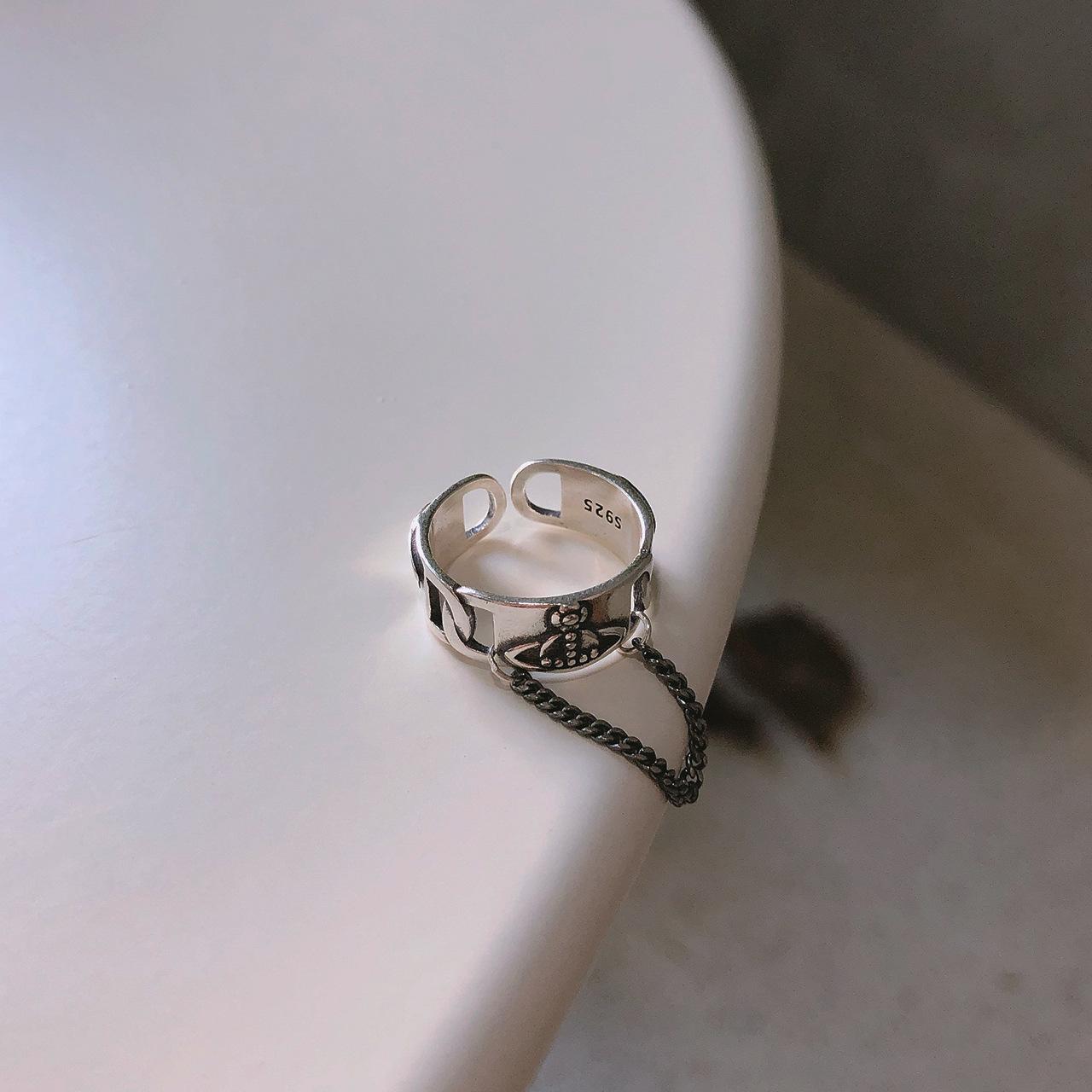 Leouerry 925 пробы Серебряное Винтажное кольцо с планетами и