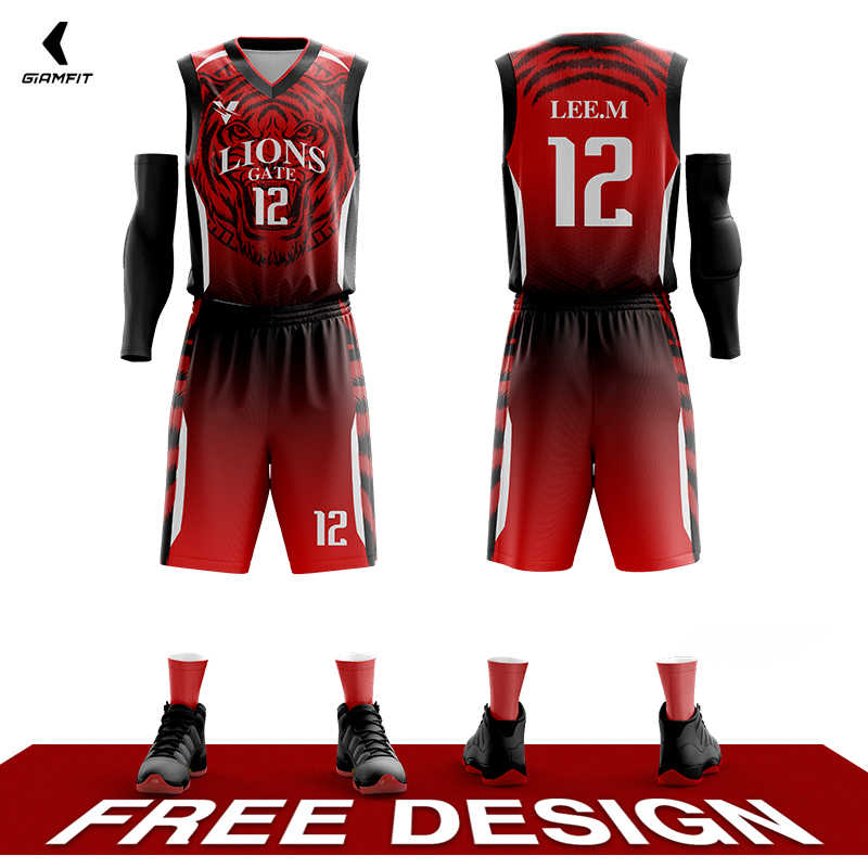 Wholesale Customized Basketball Uniforms Personalized Custom basketball jerseys Full Sublimation Sports Clothes Plus Size Kits
