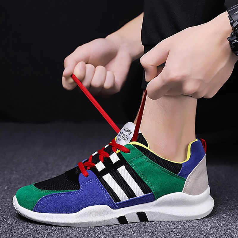 Весна 2020, новый стиль, мужская спортивная обувь, корейский стиль, дышащая сетка, обувь для бега, для путешествий, обувь для катания на коньках