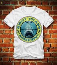T SHIRT AMITY ISLAND SHARK HUNT 1975 DER WEISSE HAI JAWS VINTAGE PT1Cool Casual pride t shirt men Unisex Fashion tshirt