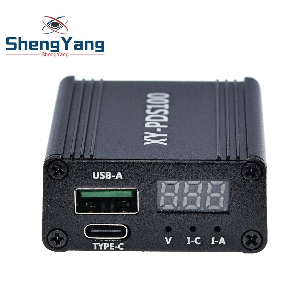 Pds100 qc4.0 qc3.0 tipo-c DC12-28V 100w step down módulo carregador rápido do telefone móvel para huawei scp/fcp apple pd qualcomm