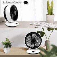 6 Inch USB Portable Desk Fan 2 Speed Control USB Powered Fan(Black/White) Fans     -