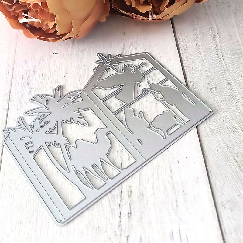 <font><b>Christmas</b></font> Lantern Metal <font><b>Cutting</b></font> <font><b>Dies</b></font> Stencil DIY Scrapbooking Album <font><b>Stamp</b></font> Paper Card Embossing Crafts Decor image