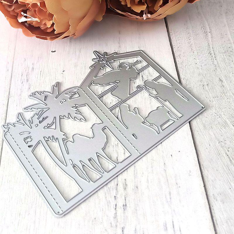 Christmas Lantern Cutting Dies Stencil DIY Scrapbooking Album Card Embossing