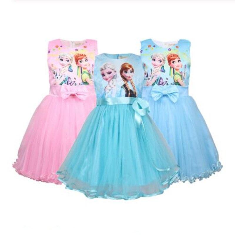 Детское платье для девочек, платье принцессы Анны, Эльзы, Софии, карнавальный костюм Снежной королевы, фэнтези для детей, бальное платье для ...