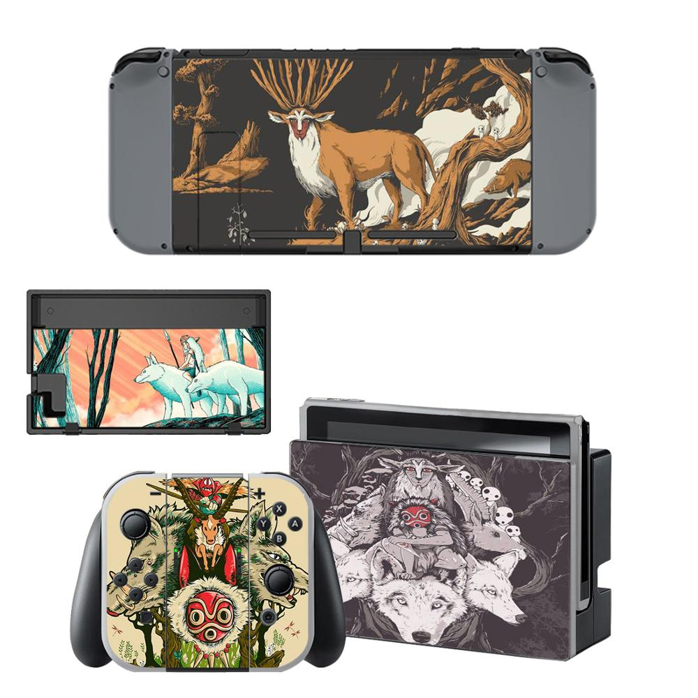 Princess Mononoke Nintendo Switch Skin Sticker NintendoSwitch Stickers Skins For Nintend Switch Console And Joy-Con Controller