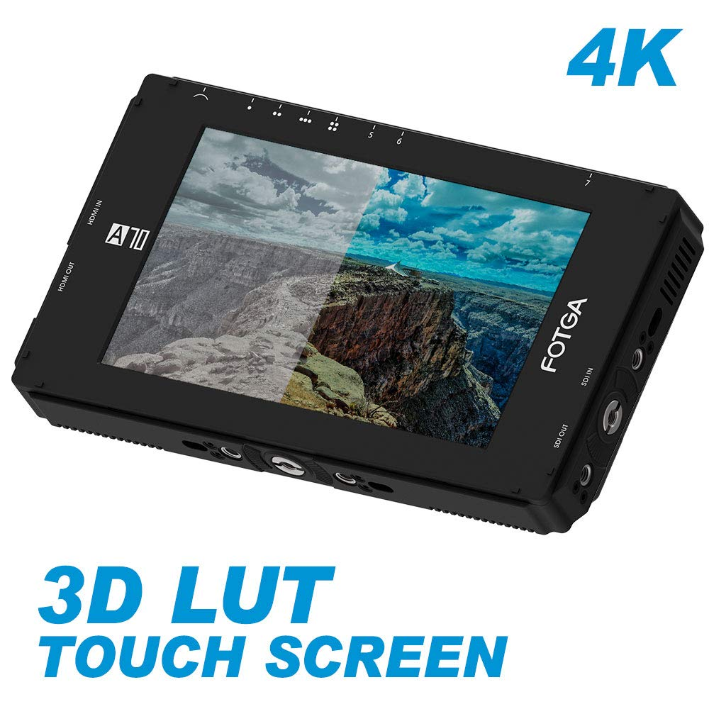 Fotga DP500IIIS A70TLS 7 Inch Touch Screen FHD IPS Video On-Camera Field Monitor,3D LUT, 3G SDI / 4K HDMI Input/Output,1920x1080 image