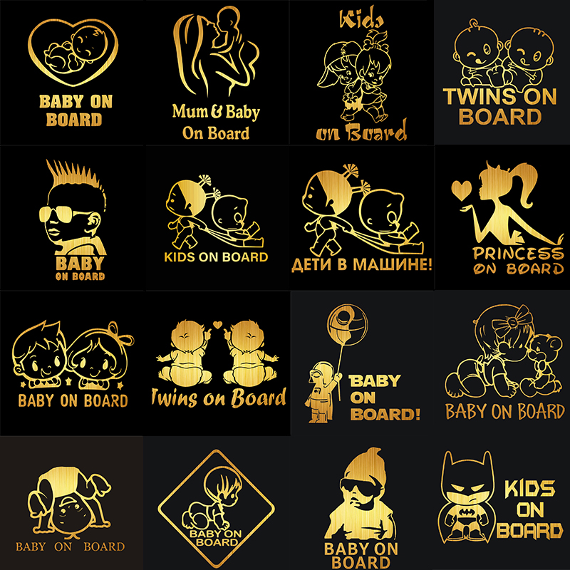 Image 2 - Rylybons Funny Car Styling BABY ON BOARD Car Stickers Window Wall Door Motorcycle Car Decals and Sticker for Car Accessories-in Car Stickers from Automobiles & Motorcycles