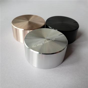 2 sztuk aluminium plastikowa gałka pokrętło potencjometru 48*22*6mm podwozie pokrętło głośności O wał kapturek przełącznika plum uchwyt gałka wzmacniacz HI-FI tanie i dobre opinie Aluminum plastic