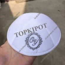 Customized, Personalized, kippah raw silk kippot, wedding kipot