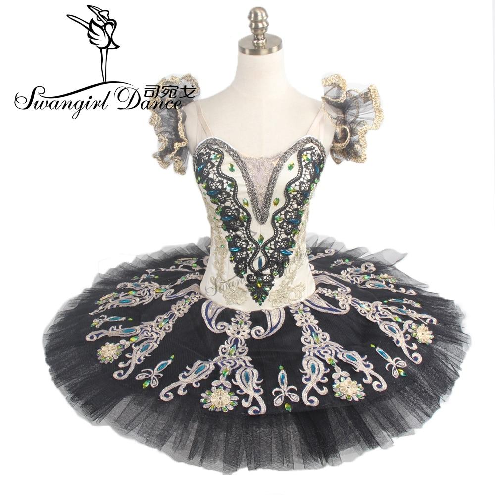sievietes zelta melns profesionāls balets tutus baleta skatuve klasiskā baleta tutu meitenēm pankūku tutuBT9094