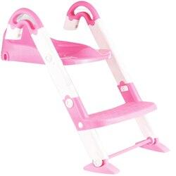 3 en 1 niños inodoro portátil silla plegable asiento de entrenamiento para el baño con el paso taburete infantil asiento de entrenamiento para el baño-aumentar Rosa L