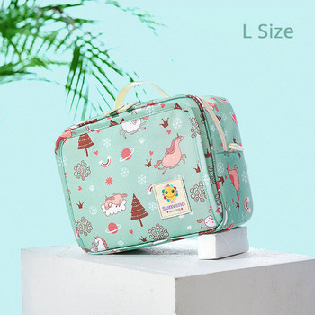 Sunveno Baby Diaper Bags Maternity Bag for Disposable Reusable Fashion Prints Wet Dry Diaper Bag Double Handle Wetbags 21*17*7CM 31