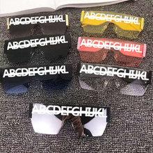 Óculos de sol quadrados oversize vintage marca feminina grande quadro óculos de sol moda gradiente sem aro óculos oculos uv400