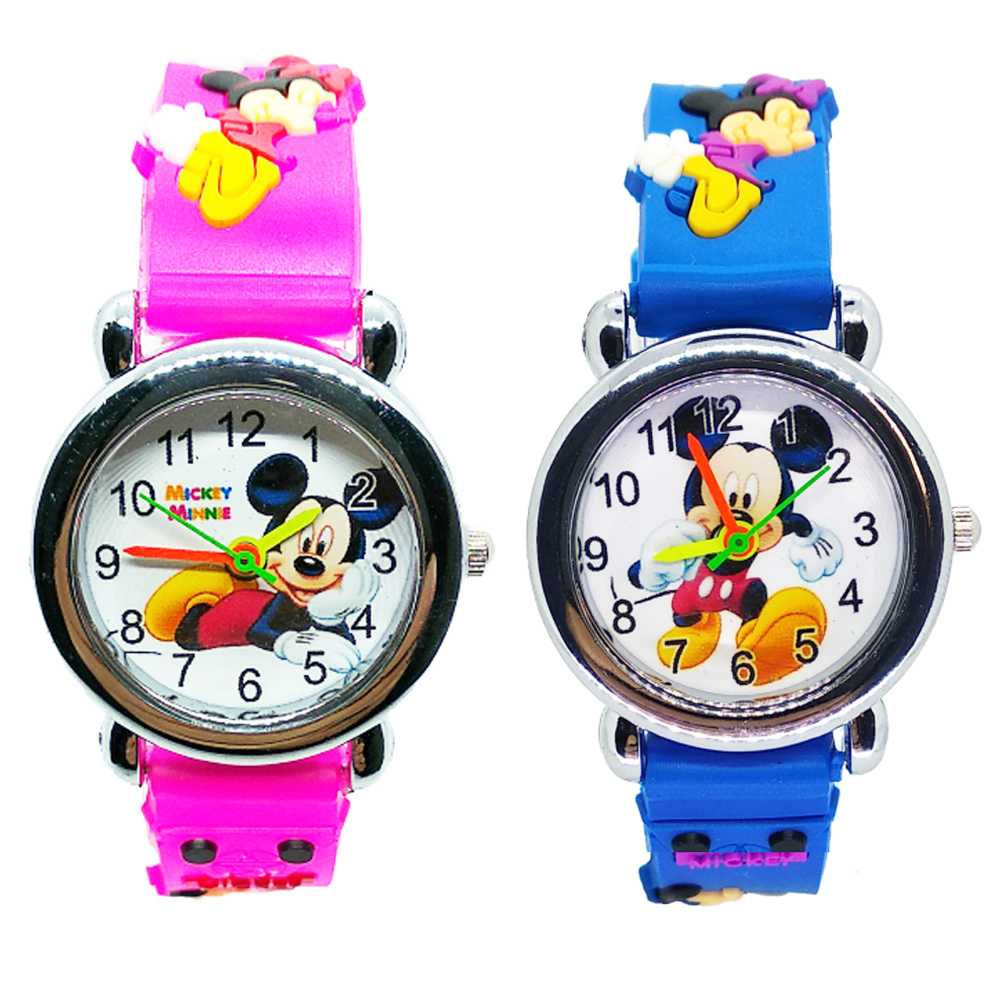 Mickey Watch Children Outdoor Sports Quartz Wristwatches Lift Waterproof Kids Watches Clock Baby Boys Girls Child Students Watch