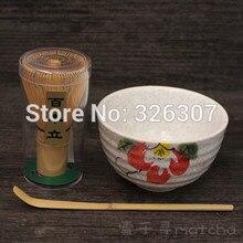 Япония ручной работы Batidor комплект маття Maccha венчик чаша чайный сервиз, совок японский зеленый чай пион Древовидный