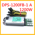 DPS-1200FB-1 EINE 1200W DL580G7 DL980G7 Schalt Netzteil Netzschalter Grafikkarte 6Pin zu 8Pin (6 + 2) für Bergbau Maschine