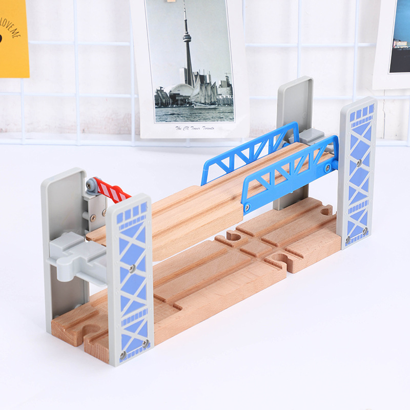 Bulk Rail Accessories Rail Bridge Series Track Scene Double Fence Compatible Wood Magnetic Scene Track Mini Train