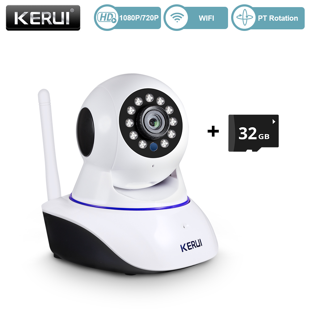 KERUI Home Security 1080P HD IP Camera Indoor Wireless Wifi Surveillance With Night Vision Infrared Network Internet Camera|ip camera|surveillance ip camerasurveillance ip - AliExpress