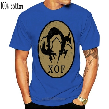 "Metal Gear Solid 5 T-Shirt Ground Zeros ""XOF"" Logo Black Men T Shirt 100% Cotton Print Shirts image"