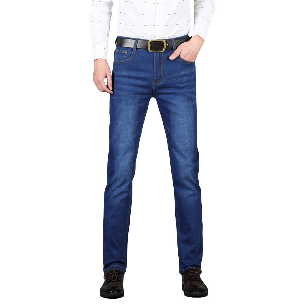 Cloudstyle Jeans For Men Stretch Blue Denim Pants Slim Straight Regular Fit Casual Men's Clothes For Youth Spring