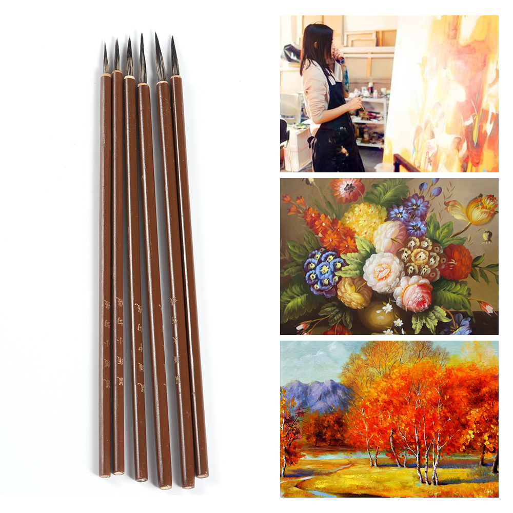 Bamboo Watercolor Paint Brushes Hook Line Pen Drawing Brush Painting Pen