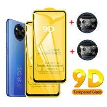 4-in-1 9D Gehärtetem Glas Display-schutzfolien für Xiaomi Mi Poco X3 NFC F2 Pro Schützende Kamera objektiv Film für Xiaomi Mi Poco M3 F3