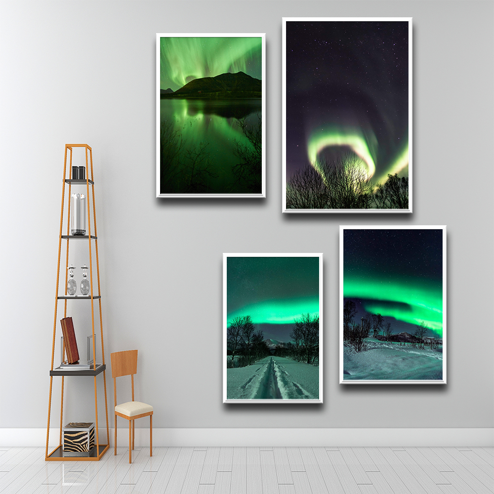 Abstract Arctic Landscape Canvas Art Painting Picture Posters And Prints Living Room Poster Decoration