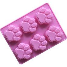 Силиконовая форма для собак, антипригарная безопасная форма для выпечки, форма для торта, помадка, инструменты для украшения торта, свадебная Форма для кексов