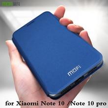 MOFi for Xiaomi Note 10 Case Mi Note 10 Pro Cover for Note10 Note10Pro Xiomi 10Pro Housing TPU PU Leather Book Stand Folio Glass