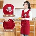 Платье-передник без рукавов из чистого хлопка для приготовления пищи на кухне