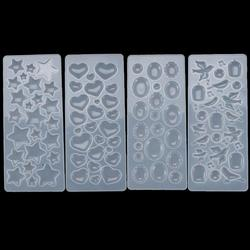 Crystal Patch Silicone Mold Heart Water Drop Shape Patch Resin Mould For DIY Epoxy UV Resin Cabochon Jewelry Making Accessories