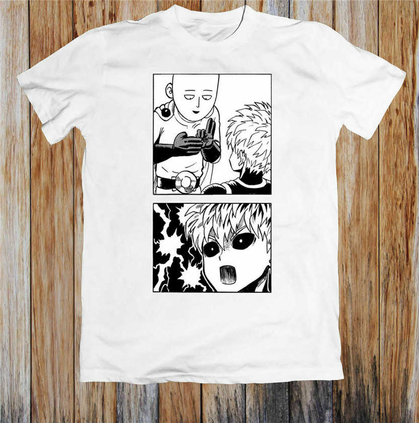 Een Punch Man Saitama En Genos Manga Wit T-Shirt Fubuki Caped Baldy S-3Xl Katoen Korte Mouw Tee Shirt