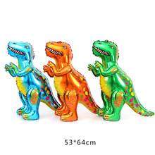 4D Dinosaur Party Foil Balloon Helium Globos Animal Ballon Dinosaur Party Supplies Kids Birthday Gift(China)
