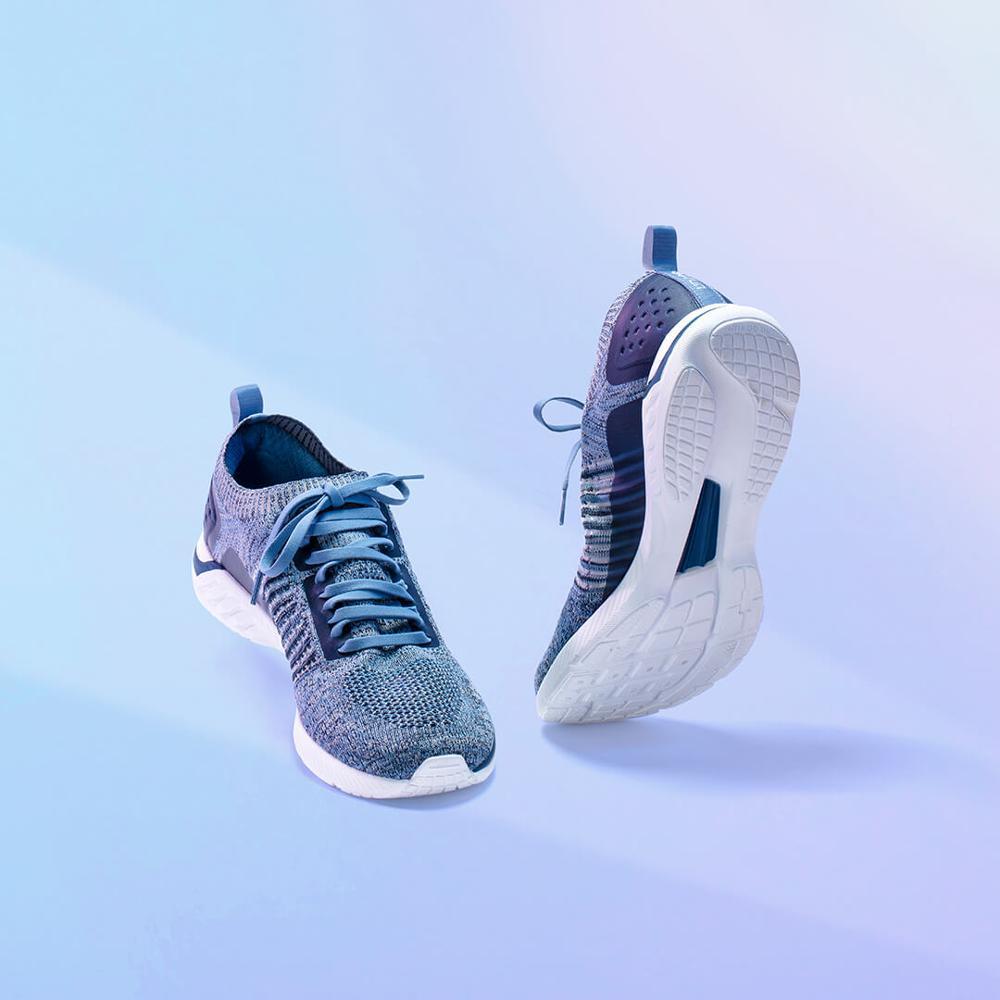 Xiaomi 90 очков кроссовки вязаная обувь износостойкие легкие мягкие стельки вразлёт, плетение дышащая Спортивная обувь для спортзала - 3