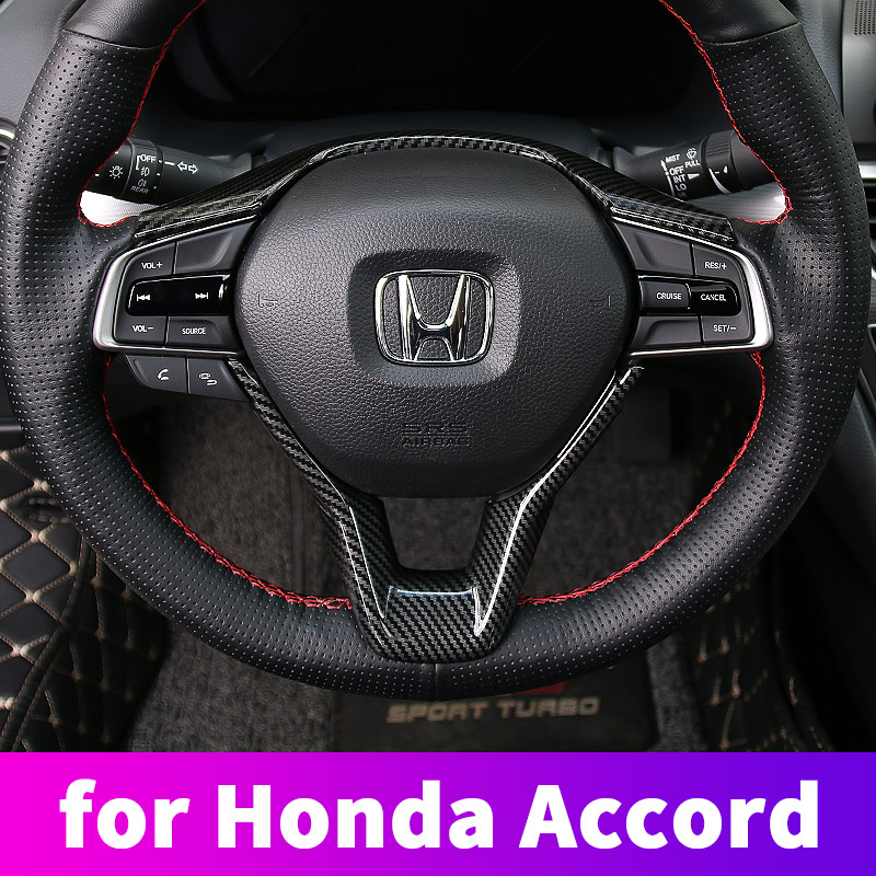 For 10th Honda Accord 2018 2019 Steering Wheel Decoration Stickers Accord Sets Of Modified Patch Interior Sequins Decorative Aut