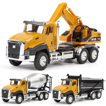 1:50 Baby Classic Alloy Simulation Engineering Car Toy  Excavator Model Tractor Dump Truck Vehicles Gift For Boy