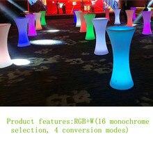 L60* W60* H110cm) Перезаряжаемый светодиодный стол для коктейлей, растущая коммерческая мебель, вечерние украшения