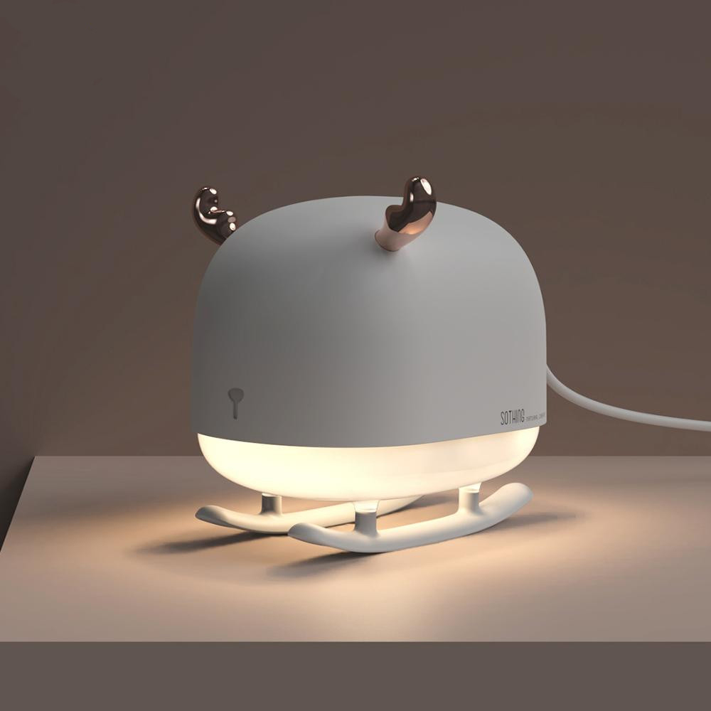 260ML Sleigh Deer Ultrasonic Air Humidifier Mini USB Desktop Mist Maker Bedroom Night Light Essential Oil Diffuser