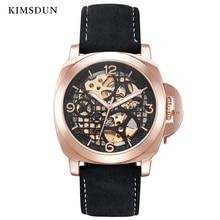44 スケルトン自動機械式時計メンズ腕時計トップブランドの高級ファッション防水 ミリメートル軍事腕時計男性ドロップシッピング