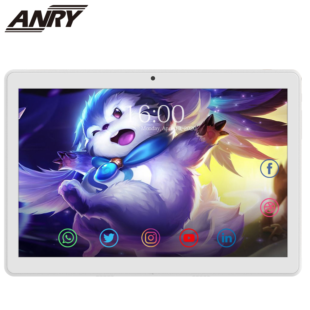 ANRY 10 Inch 4G LTE Phone Call Tablet PC MTK6737 Quad Core 2GB RAM 32 GB ROM Dual SIM GPS Wifi Android 8.1 Tab