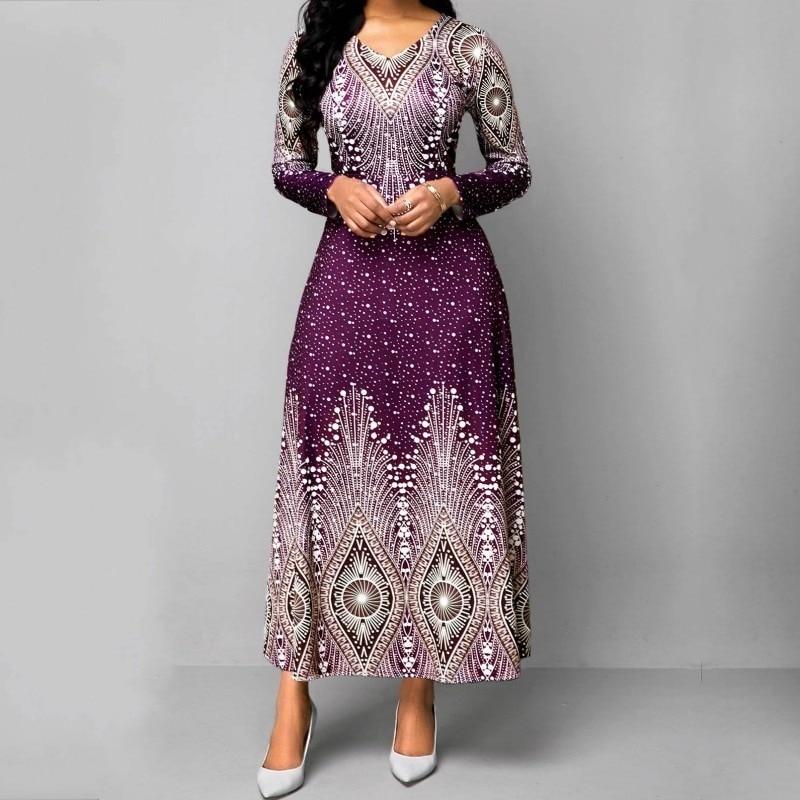 4XL 5XL Plus Size African Long Maxi Dresses Women 2020 African Clothes Africa Dress Print Dashiki