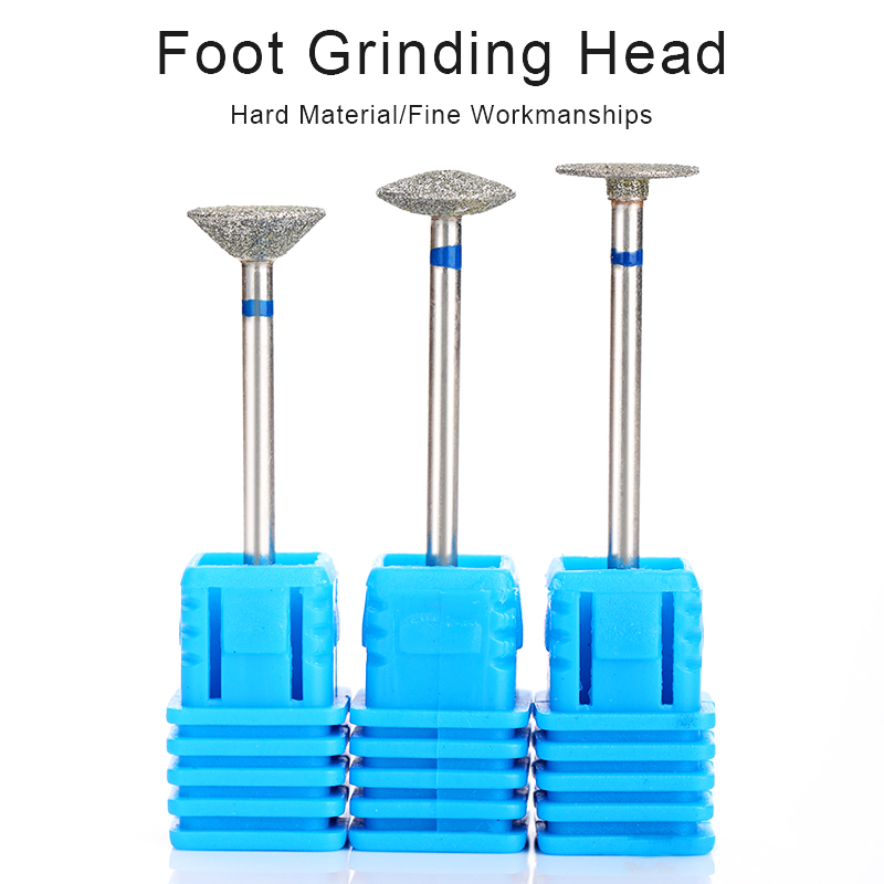 BORN PRETTY Foot Nail Drill Bits Pedicure Manicuring Foot Cuticle Clean Tools Nail File Grinding Head Nail Art Tools Accessories