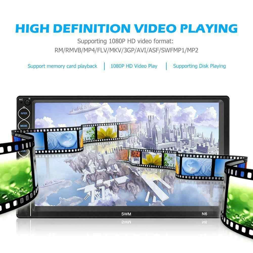 カーオーディオ 2DIN ステレオ MP5 プレーヤー 7in BT USB AUX FM ラジオアンドロイド Iphone XR ミラーリンク自動タッチスクリーン