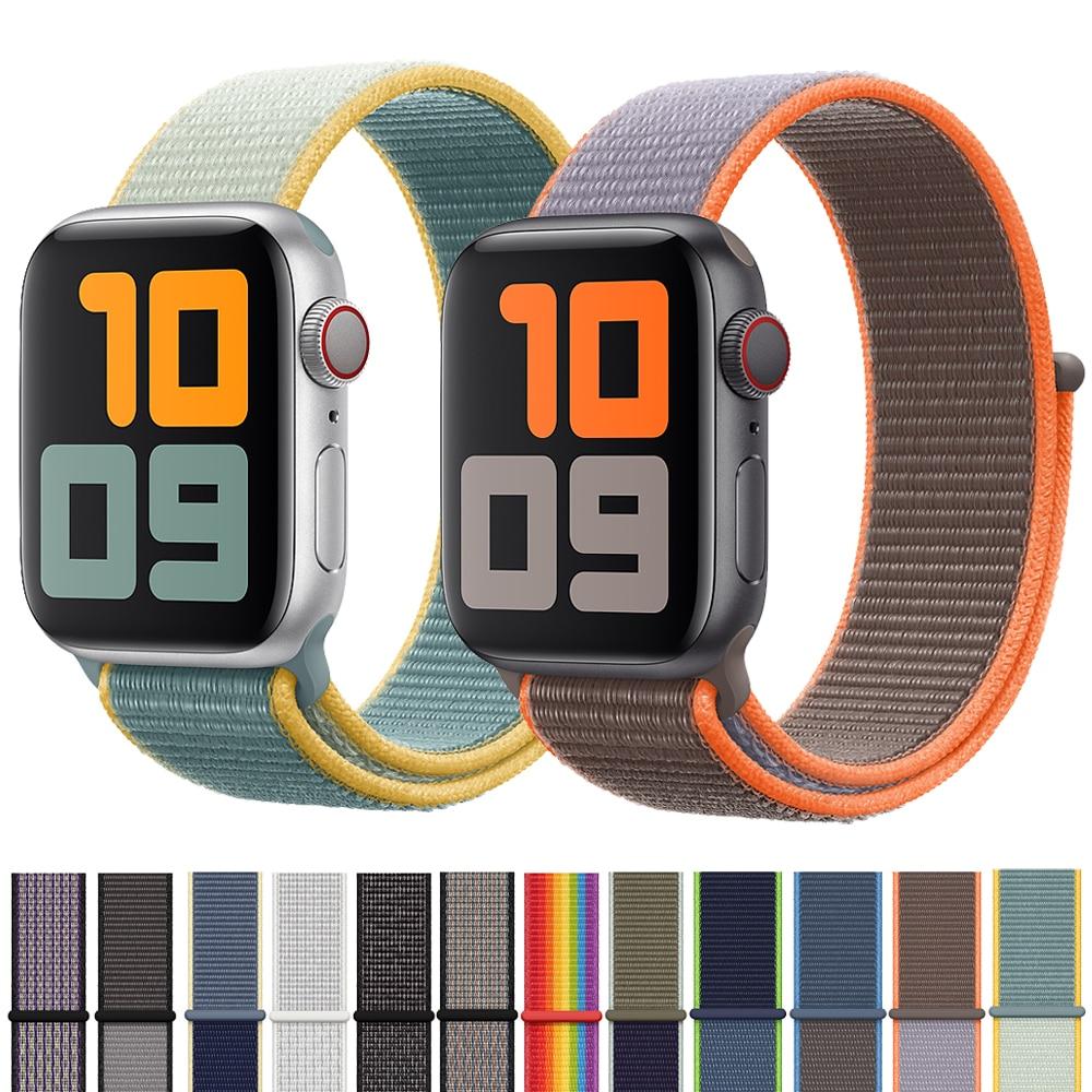 Sport Loop Strap For Apple Watch Band 42mm 38mm 44mm 40mm Woven Nylon Correa Iwatch 4 3 2 Bracelet Apple Watch 4 5 Accessories
