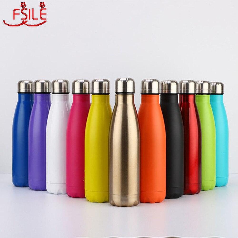 350/500/750/1000ml çift duvar paslanmaz çelik su şişesi termos şişe sıcak ve soğuk yalıtımlı termos spor için