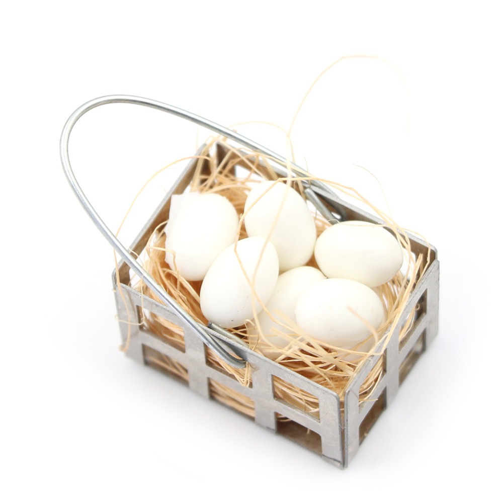 BASKET OF 12 EGGS DOLLS HOUSE ACCESSORY 1//12 SCALE NEW /& PACKAGED