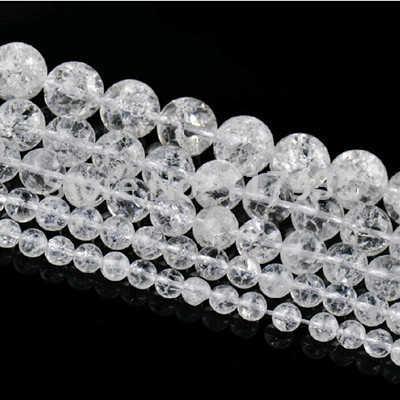 卸売純粋なルース天然石ビーズより明確水晶ビーズ 6-12 ミリメートルロックポップコーン Diy ビーズジュエリーメイキングのために