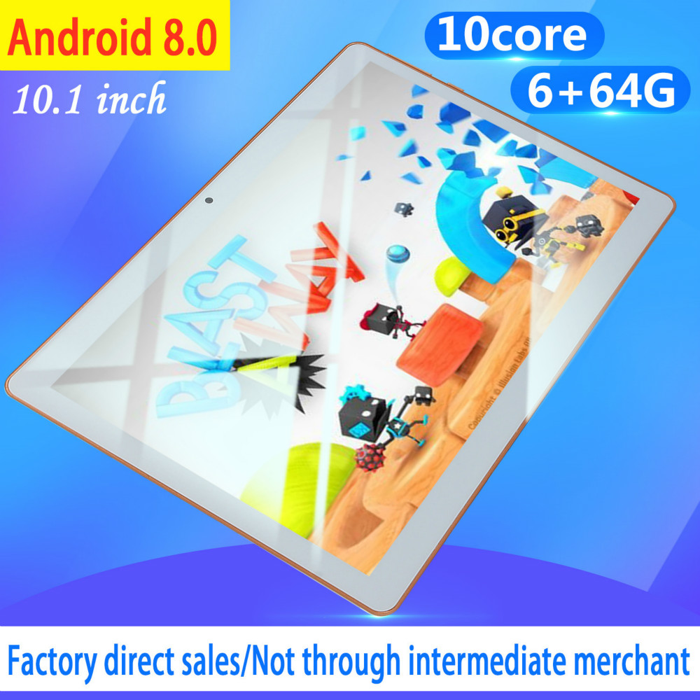 2020 Hot Sale New 10 Inch Android 8.0 Tablet Double Card Dual Standby  6G+128GB Large Memory Smart Tablet  4G Phone Tablet PC