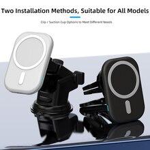 15ワット磁気車のワイヤレス充電器iphone 12ミニプロマックス急速充電ワイヤレス充電器車のポータブル充電器電話
